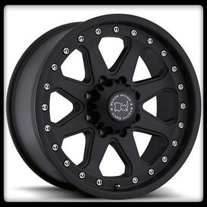 "20"" x 9"" Imperial Off Road Black Rhino Matte Black Hummer F250 Yukon Wheels Rims"