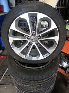 2013 4 18 HONDA ACCORD FACTORY STOCK OEM RIMS WHEEL TIRES REF 606 A