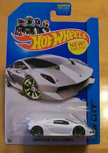 New 2014 Hot Wheels HW City Series Lamborghini Sesto Elemento White New Model