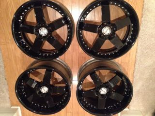 Lamborghini Gallardo Avus Custom 3 Piece Wheels Black