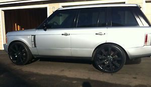 "24 "" Range Rover Wheels Rims Matte Black Brand New Stormer 22"