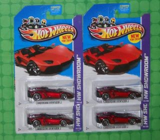 2013 Hot Wheels Showroom HW All Stars 180 Lamborghini Aventador J x 4