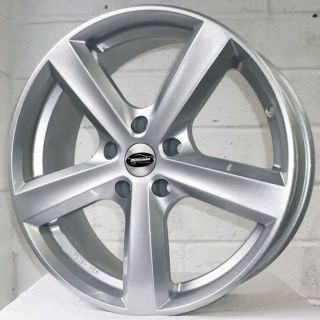 "17"" Ford Transit Connect 02 2012 Team Dynamics Cyclone Silver Alloy Wheels 5x108"