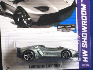Hot Wheels 2013 Lamborghini Aventador J Zamac w Black Interior