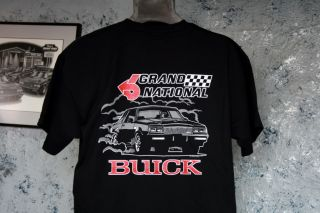 All New Black Buick Grand National SS T Type Shirt GNX GN Turbo Six