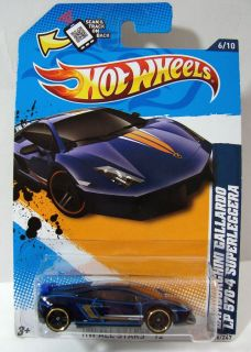 Hot Wheels 2012 HW All Stars Lamborghini Gallardo LP570 4 Superleggera DK Blue