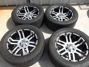 "20"" Black Wheels Tires Rims 5x127 Jeep Wrangler Sahara Rubicon Sport Unlimited"