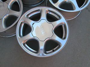 "17"" GMC Yukon Denali Chevy Silverado Alalanch 1500 Factory Polished Wheels Rims"