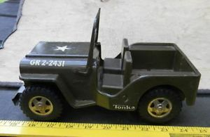 Tonka Metal Body US Army Jeep Toy for Parts or Play 1960 70's Era