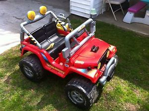 Fisher Price Power Wheels Fire Rescue Jeep 12 Volt