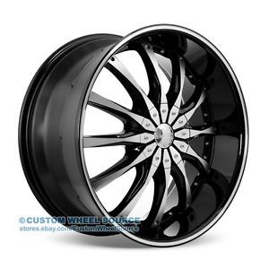 "20"" Dcenti DW8 Black Wheel and Tire Package for Dodge Ford GMC Hummer Lincoln"