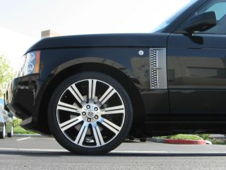 "22"" inch Stormer II Wheels Rims Tire Package Range Rover Sport Black Machined"