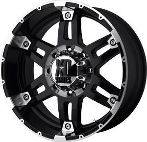 "17"" KMC XD Spy Black Wheels 6x5 5 6 Lug Chevy GM Truck"