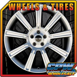 "New Set of 4 20"" Range Rover Evoque Wheels Rims Tires Package Hyper Silver Land"