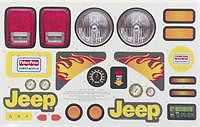 Fisher Price Power Wheels X0071 0330 Jeep Stickers New