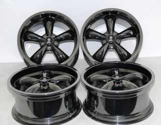 Black Chrome Bullitt Wheels 20x9 20x10 5 1994 2004 Ford Mustang Bullet Rims