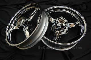 01 02 03 04 05 Suzuki GSXR 600 Chrome Wheels Rims New