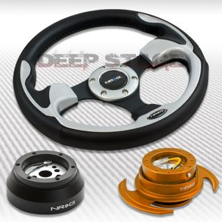 NRG Silver Steering Wheel Hub Rose Gold Gen 3 Quick Release Kit Camaro Corvette