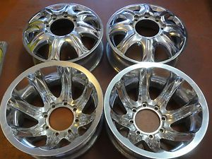 "4 16"" Ultra Aluminum Dually Wheels Polished 8x6 5 Pre 07 GM 99 Older Ford Dodge"