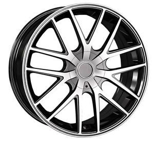 16 inch Touren TR60 Black Wheels Rims 4x4 25 Thunderbird Cougar Mystique