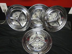"1956 Oldsmobile Fiesta Spinner Hubcaps Wheel Covers Olds 15"" Rat Rod"