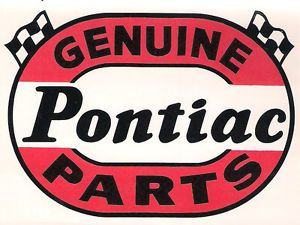 Vintage Original Genuine Pontiac Parts Hot Rod NHRA Drag Racing Decal Sticker