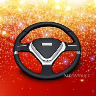 X'mas Gift 6 Bolt 320mm PVC EVO Spoke Racing Steering Wheel Style Clear JDM