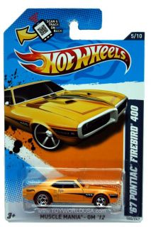 2012 Hot Wheels Muscle Mania GM 105 1967 Pontiac Firebird 400  Exclusi