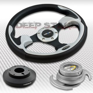 NRG Silver Steering Wheel Hub Silver Gen 3 0 Quick Release Kit Mustang Mazda 3