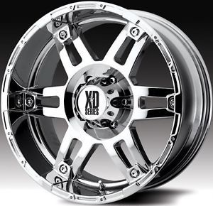 20 inch KMC XD Spy Chrome Wheels 8x170 Ford F250 F350