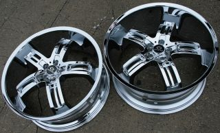 "Lorenzo WL026 22"" Chrome Rims Wheels Chrysler 300 300C V6 V8"