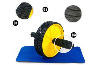 Strengthen AB Wheel Exercise Wheel Double Abdominal Exercise Roller Wheel Mat