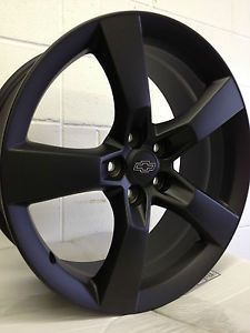 20 inch Matte Black 2010 Chevrolet Camaro SS Factory OE Replica Wheels Rim 5x120