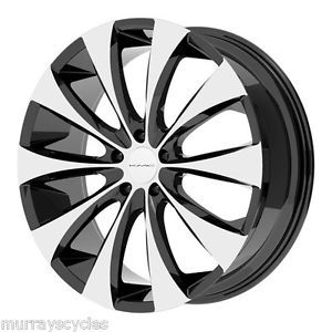 KMC Wheels KM679 Fader Gloss Black Machined 5 Lug 6 Lug 20x8 5