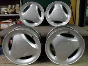 Saab 900 9000 SPG Aero 15 inch Alloy Wheel Set of 4 Rims Three Spokes