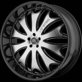 20x10 Black Lorenzo WL029 Wheels 5x115 18 Dodge Challenger SRT8 Charger SRT8