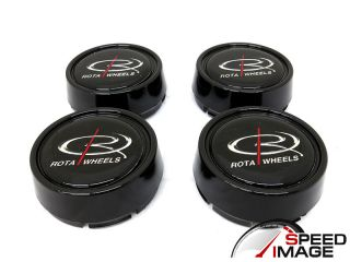 Rota Wheels Moda Gloss Black Replacement Wheel Center Caps GT3 Grid V Track R