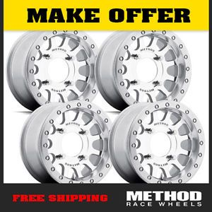 Method Race Wheels UTV Beadlock 15x7 Machined Fits Polaris RZR XP900 XP1000 800