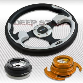 NRG Silver Steering Wheel Hub Rose Gold Gen 3 Quick Release Kit 00 09 S2000 TSX