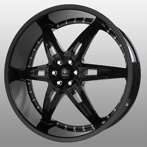 22 inch Verde Allusion Black Wheels Rims 5x115 300C Charger Magnum Challenger