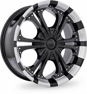 4 New Specials Style 78 20x8 5 10 5x135 Black Machined Rims