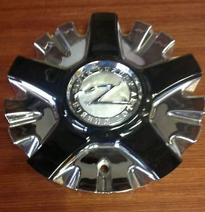 Zinik Z26 Aftermarket Chrome Center Cap w Black Inserts Z26 2295 Cap LG0708 91