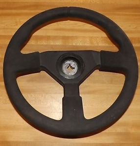 "13 1 2"" 3 Spoke Ultraflex Boat Marine Steering Wheel Black Inboard Outboard 13 5"