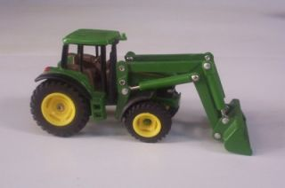 John Deere Farm Tractor w Front Bucket Loader Ertl Farm Toy 1 64 Loose
