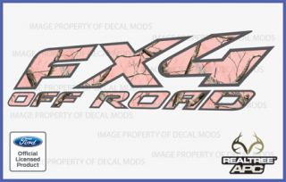 2003 Ford FX4 Off Road Decal Sticker Set APC Pink Realtree Camo Camouflage Girl