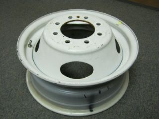 "08 12 Ford E 350 E 450 Econoline Cube Van 16"" 8 Lug White Steel Dually Wheel"