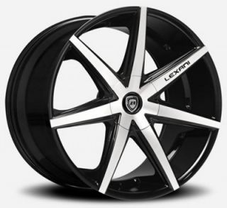 "22"" Lexani R7 Seven BM for BMW Wheels and Tires Rims 5 6 7 Series 645 650 745"