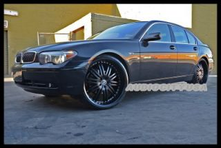 "22"" Staggered D1 Black for BMW Wheels and Tires Rims 5 6 7 Series 645 650 745"