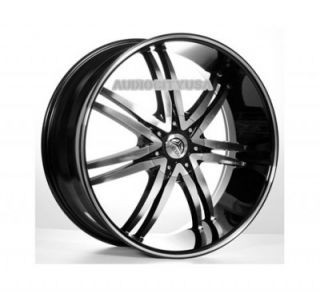 "24"" inch B14BM Wheels and Tires Rims for 300C Charger Magnum Challenger"