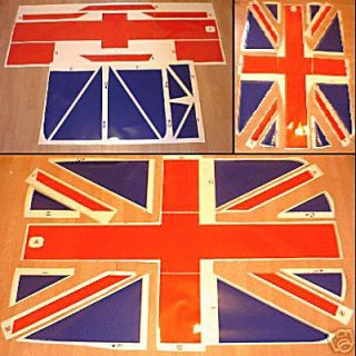 BMW Mini Union Jack Roof Decal Cooper Mini One Flag